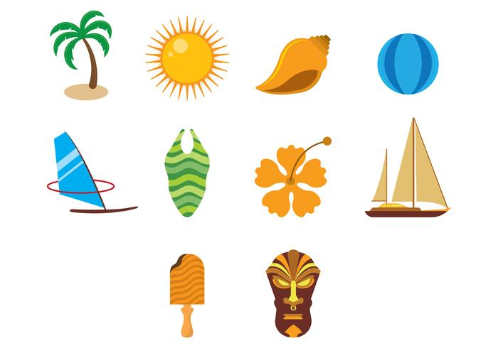 Hawaii Vector Icons