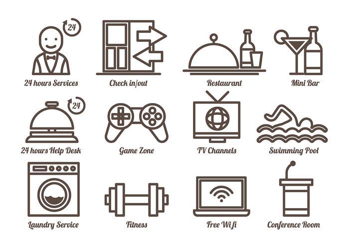 Free Concierge Icons Vector