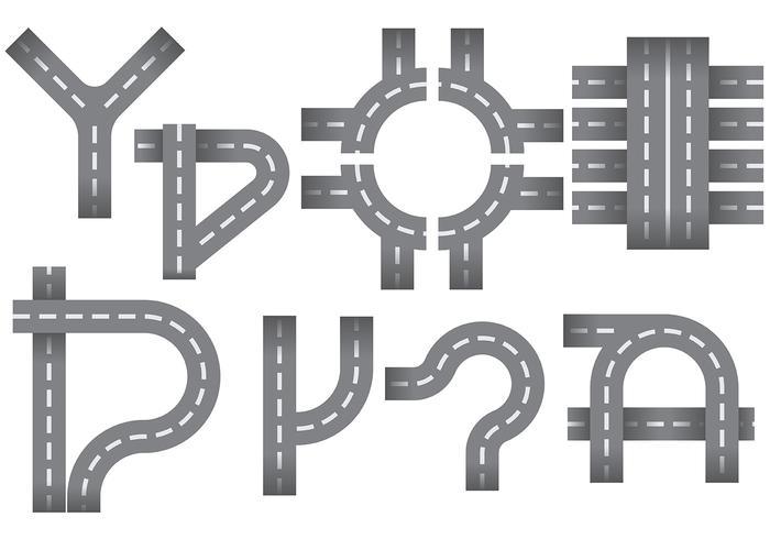 Libre Roundabout iconos Vector