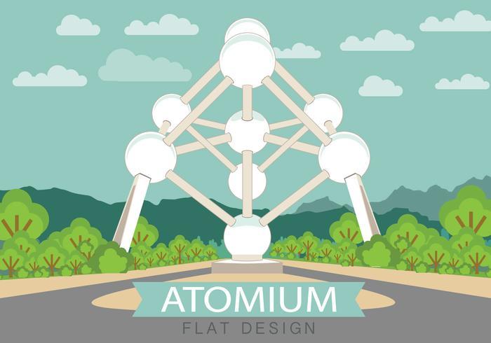 Atomium Flat vector
