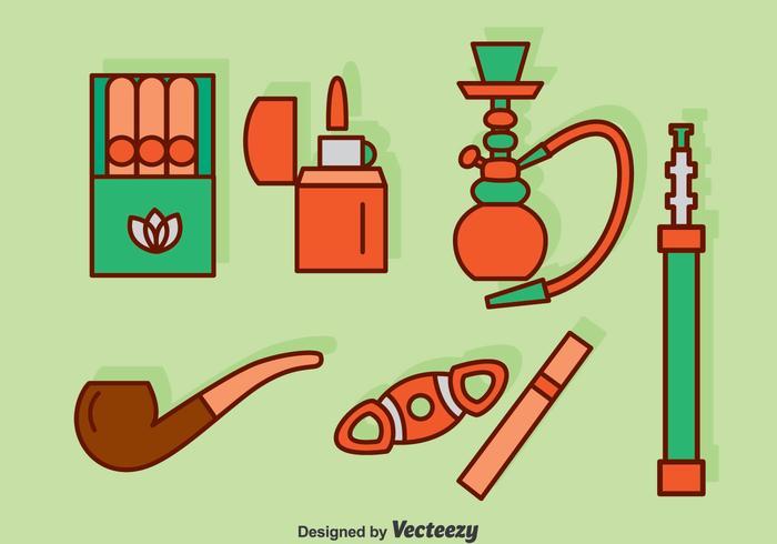 Rökning ikoner sätta vektor