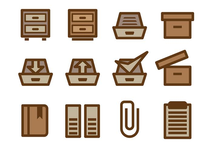 File Cabinet Vector
