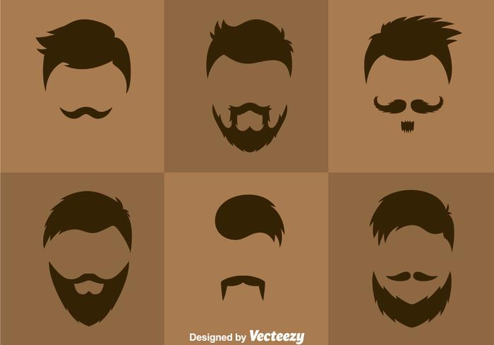 Vettore di stili di capelli dell'uomo