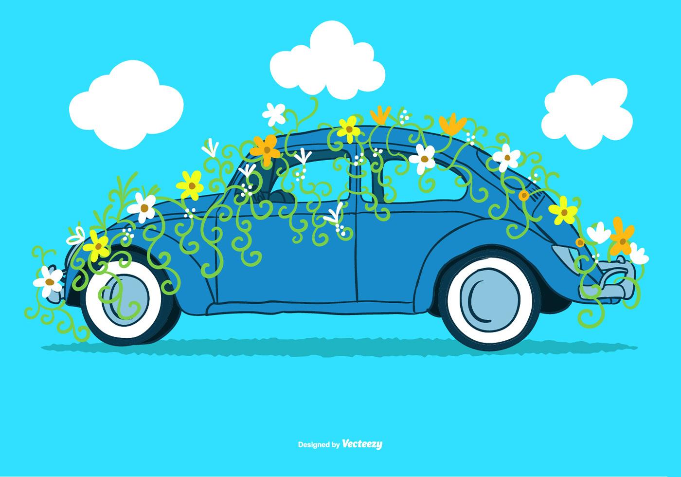 Flower Power VW Vector - Download Free Vector Art, Stock ...