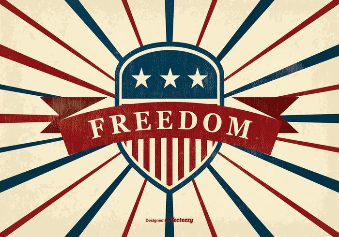 Ilustração retro da liberdade