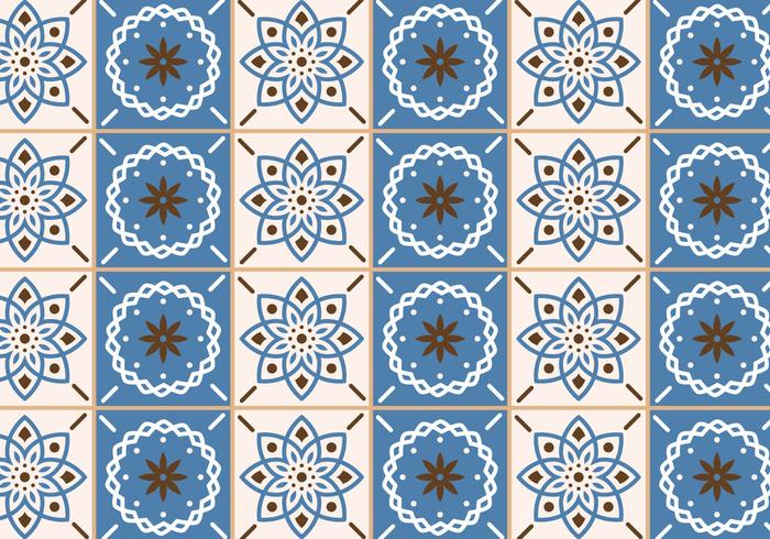 Beige and Blue Tiles vector