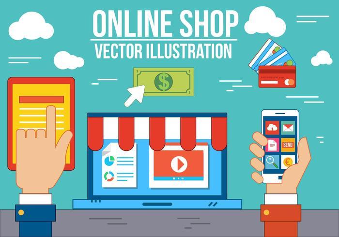 Kostenlose Online-Shop vektor