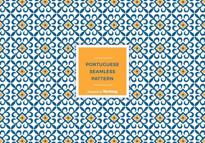Padrão Livre do vetor de azulejos portugueses
