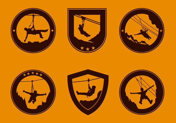 Free Retro Zipline Logo Vektor