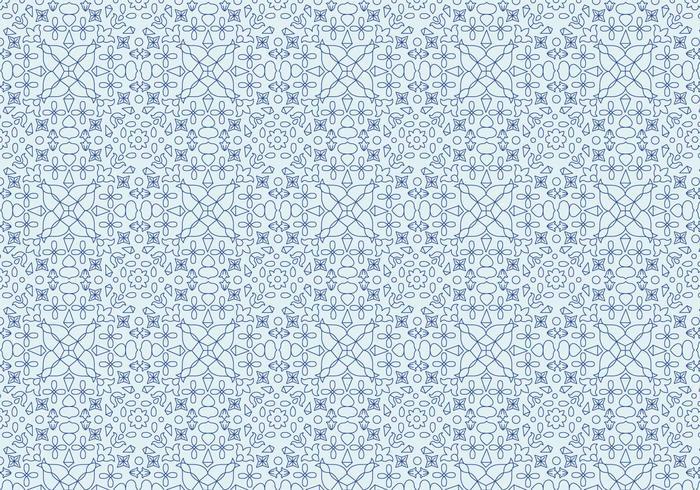 Padrão Motivo Floral Geométrico
