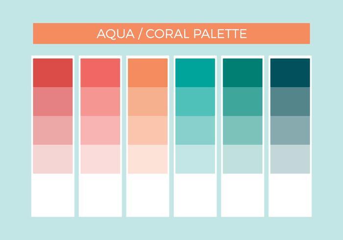 Free Aqua Coral Vector Palette