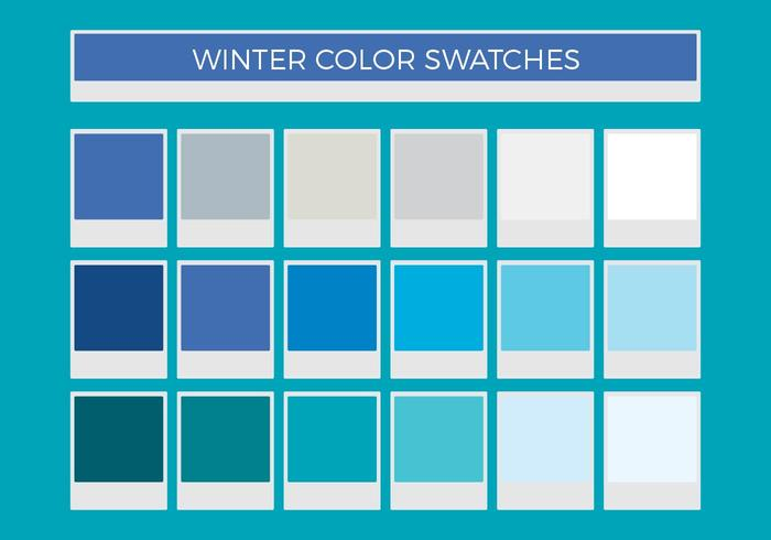 Free Winter Vector Color Swatches
