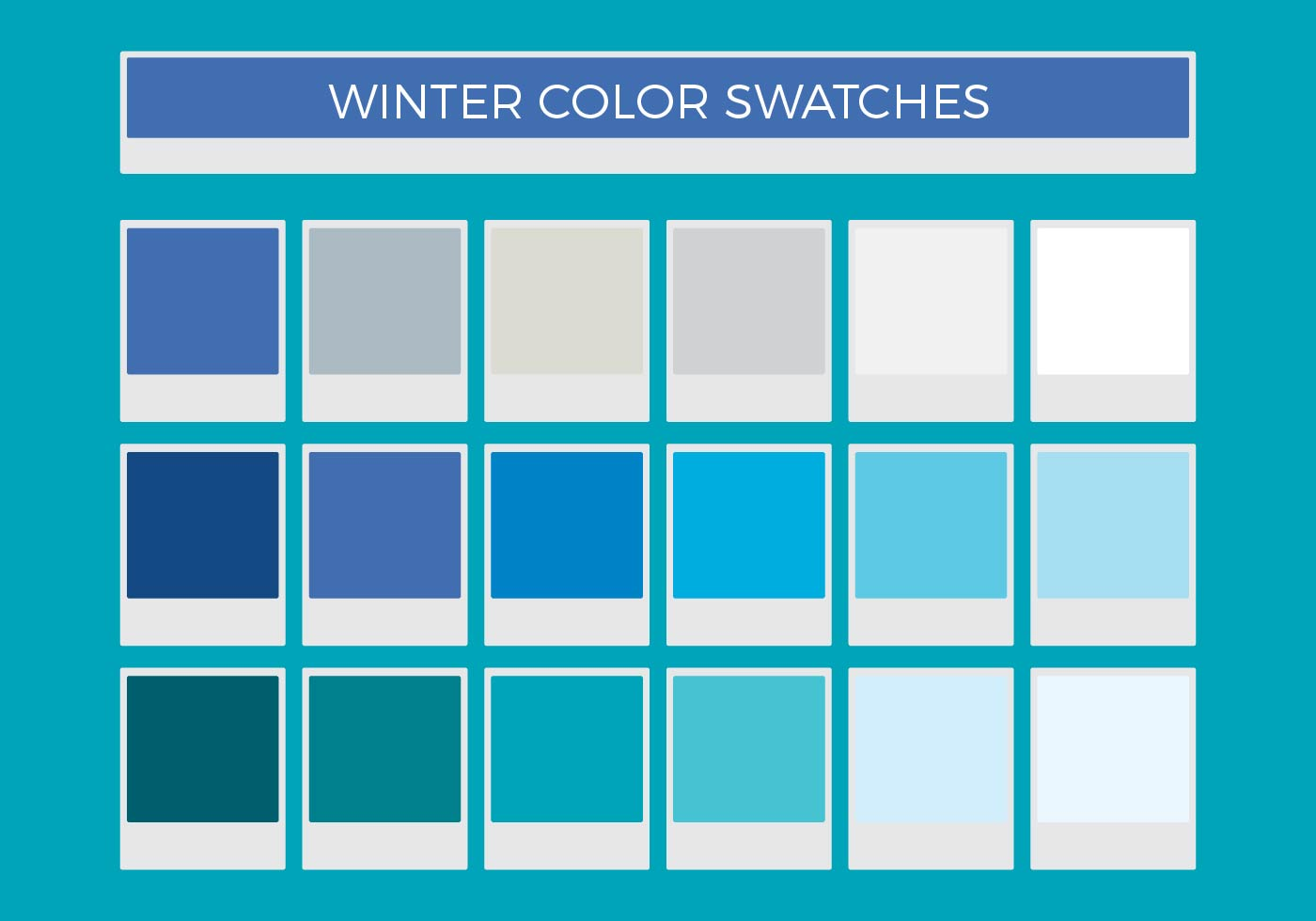 Free Winter Vector Color Swatches Art Stock Graphics Images