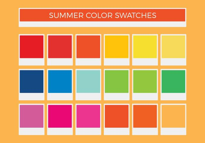Free Summer Vector Color Swatches
