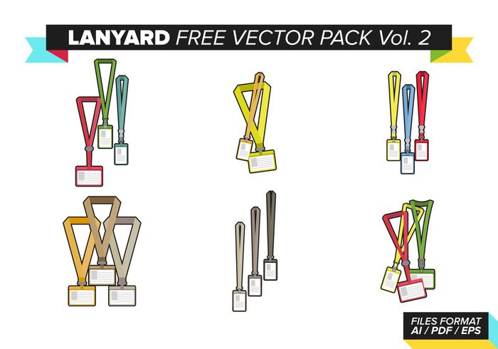 Lanyard Free Vector Pack Vol. 2