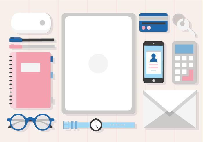 Free Desk Items Vector Design