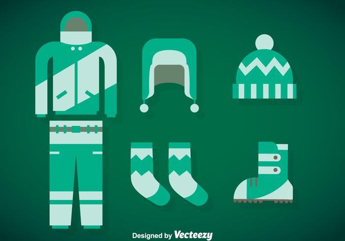 Winter Coat Vector Set