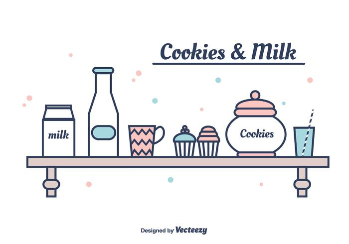 Cookies And Milk Vector