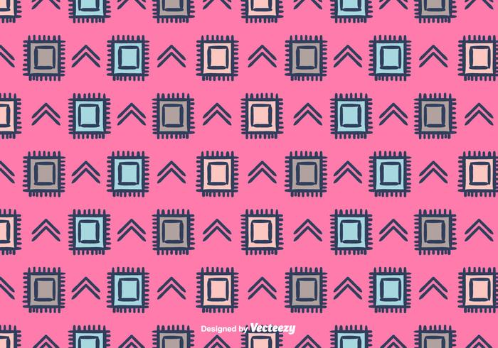 Ethnic Vector Pattern Background