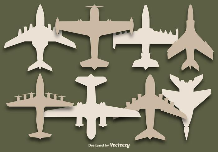 Vector Set Of airplanes silhouettes