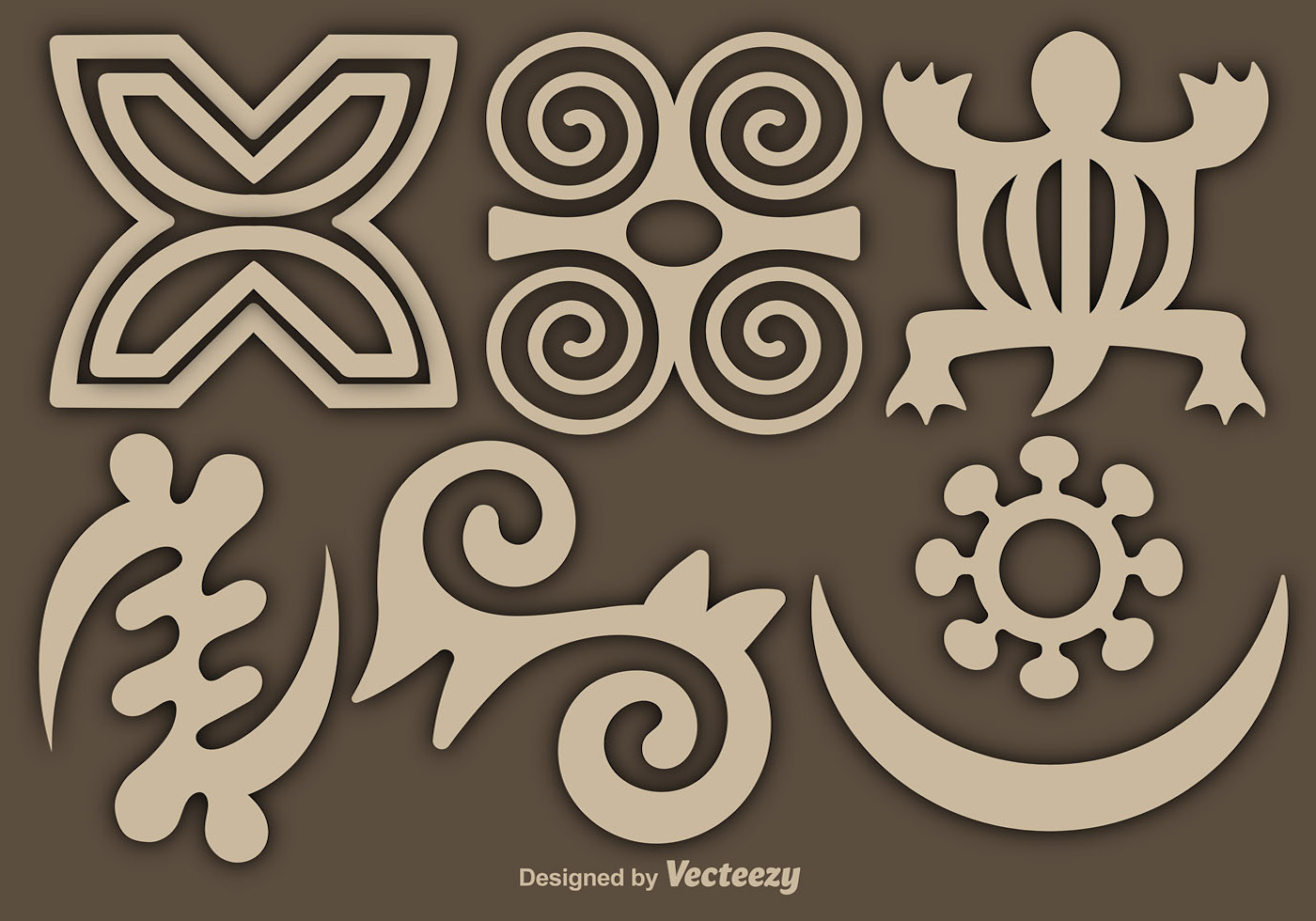 Vector Adinkra Symbols Set Download Free Vector Art Stock