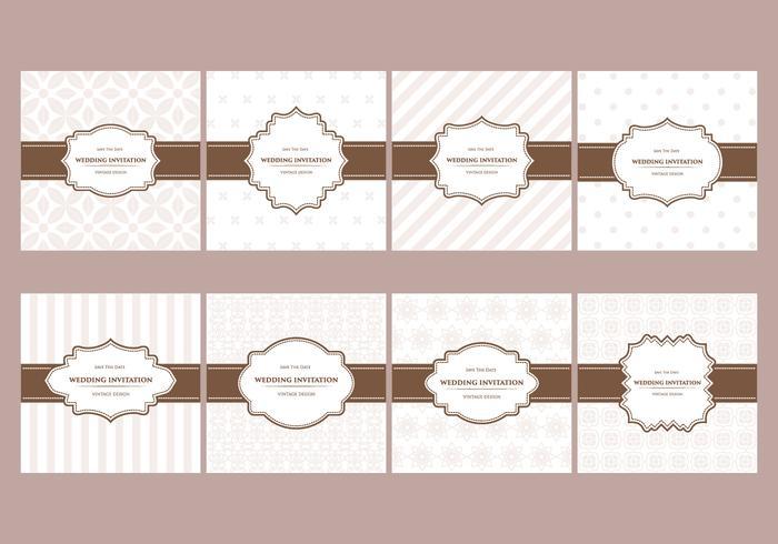 Free Elegant Wedding Cards Pattern Designs