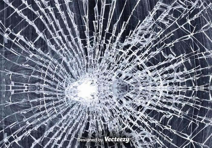 Broken Glass Vector Illustration