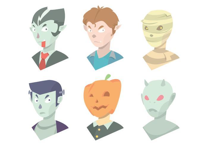 Conjunto de vetores de máscara de Halloween