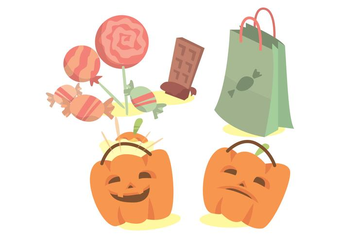 Trick or Treat Vector Set