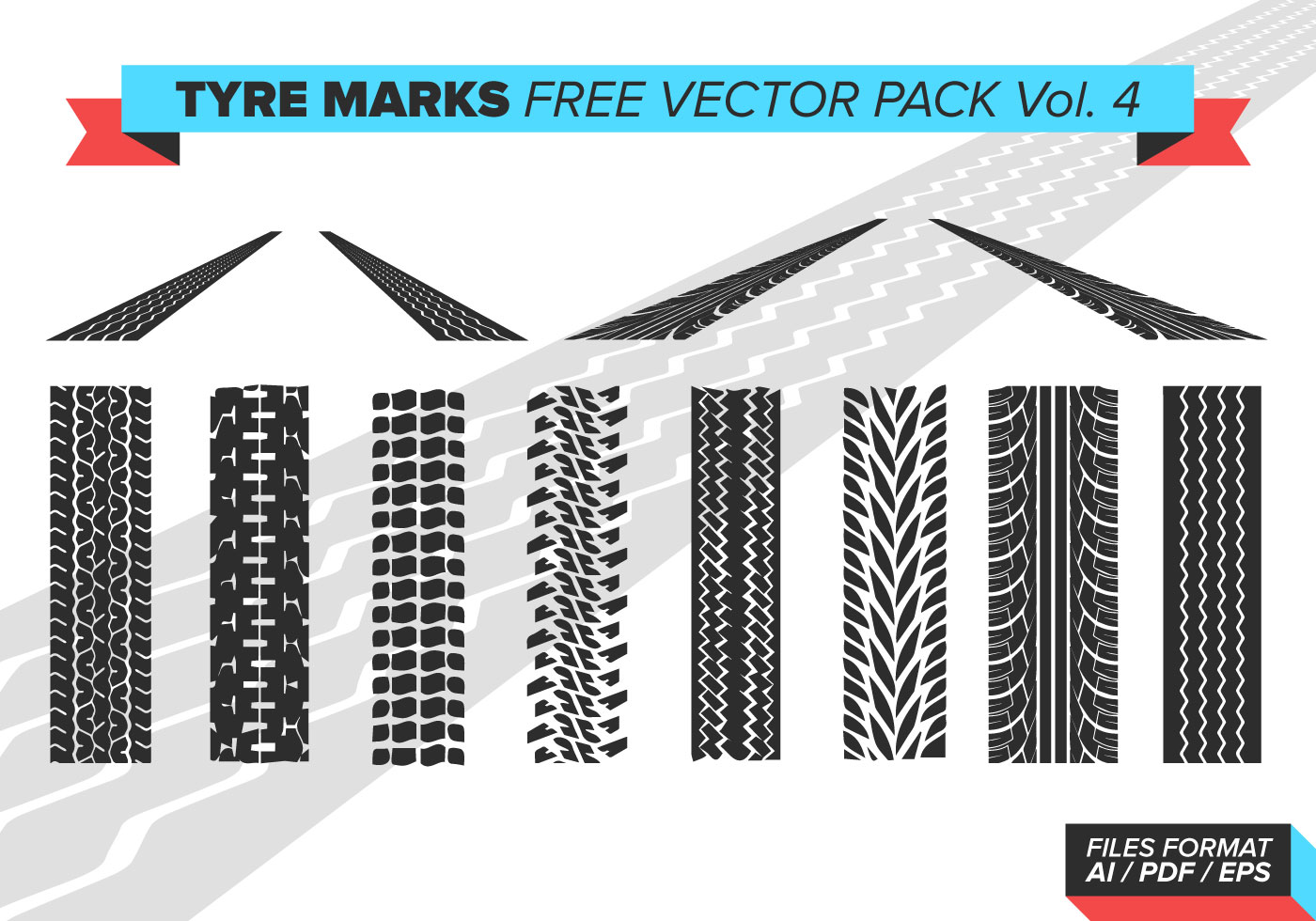 tire marks vector pack vol 4 download free vector art