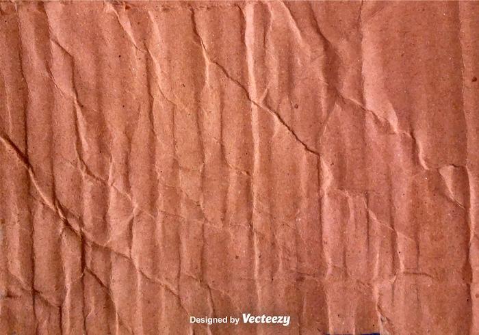 Textura de papelão amassada com vetor