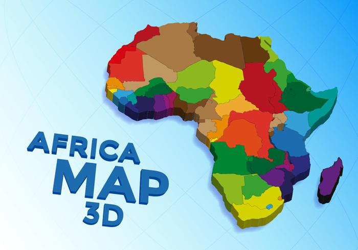 Africa Map Vector   Download Free Vectors, Clipart Graphics