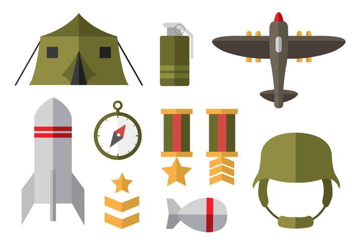 Icônes plates gratuites de la Seconde guerre mondiale