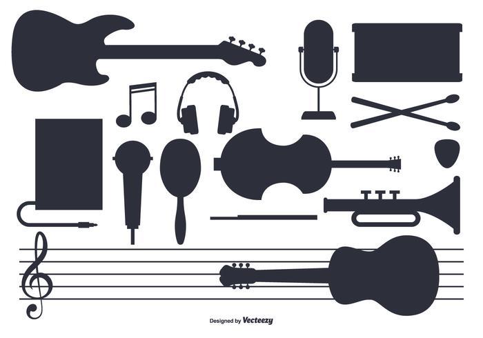 Conjunto de instrumento de música vetorial