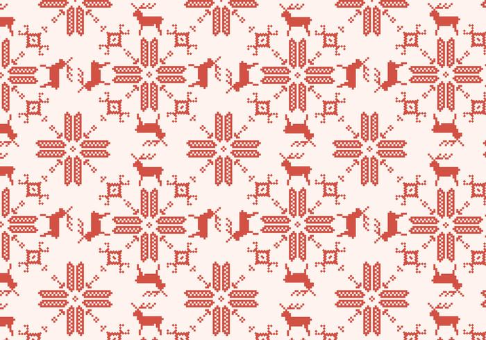 Reindeer Red Pattern