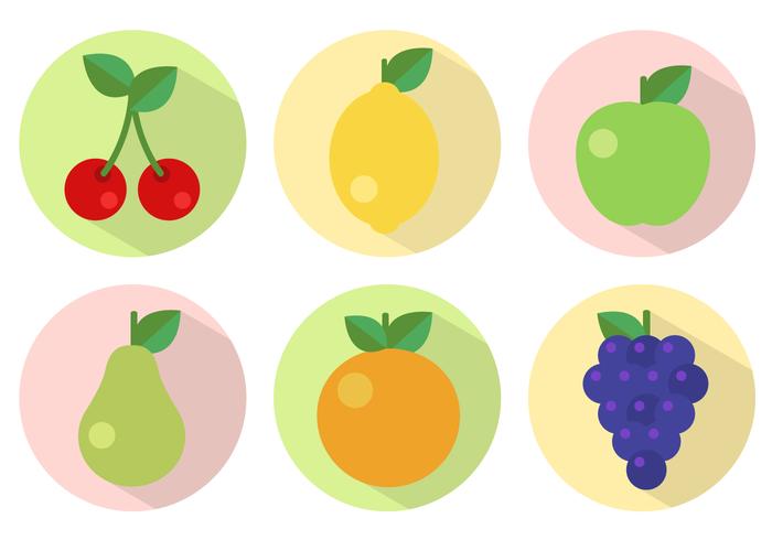 Vecteur gratuit à fruits plats