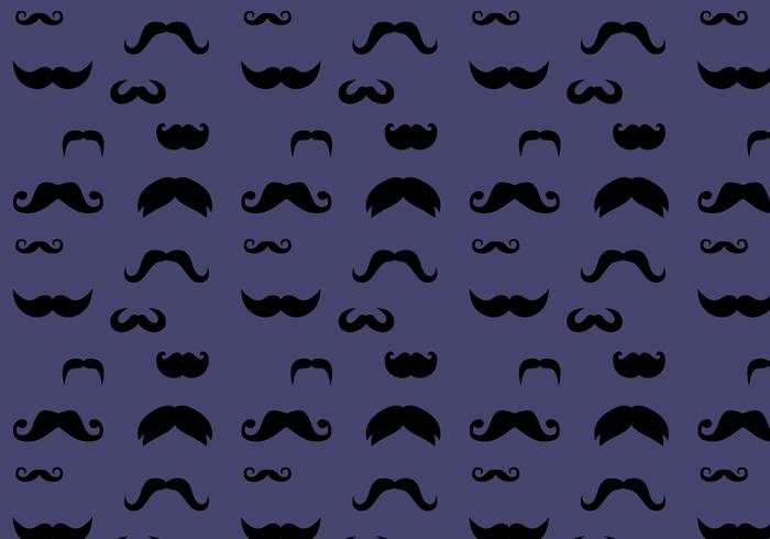 Vetor de padrão de bigode grátis
