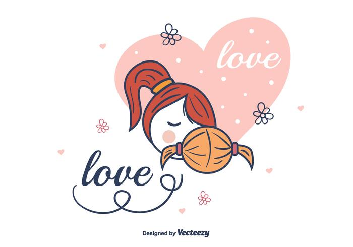 Mom And Child Vector Background