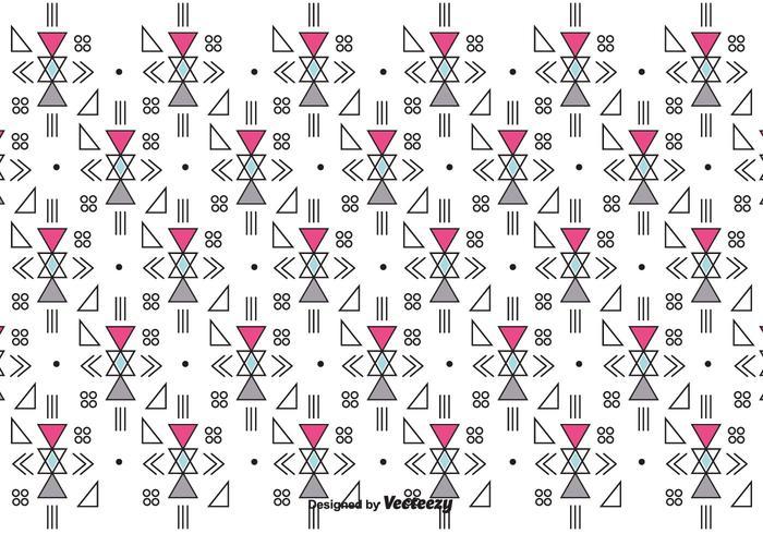 Retro patrón geométrico del vector
