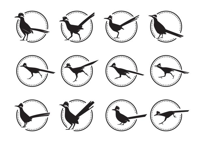 Free Roadrunner Bird Silhoutte Vector Pack