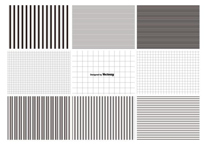 Lines and Grids Pattern Set