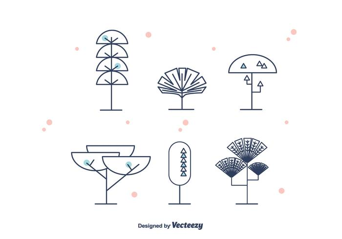 Geometrical Trees Vector