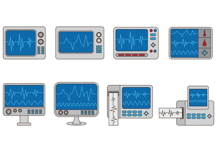 Set Of Heart Monitor Vectors