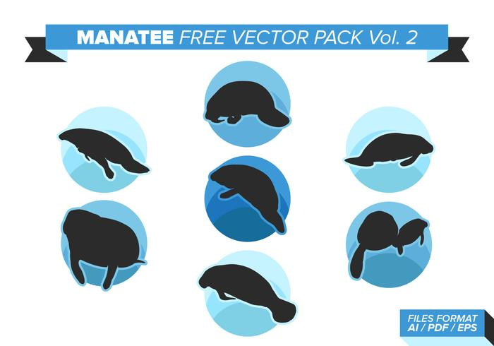 Manatee Free Vector Pack Vol. 2