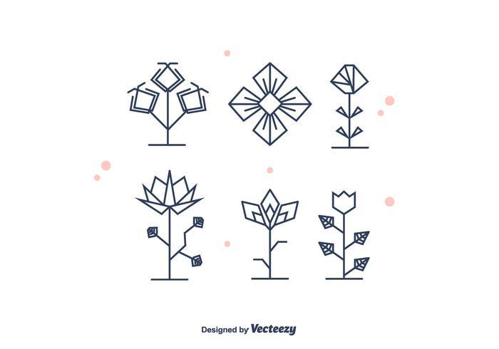 Geometrical Flowers Vector