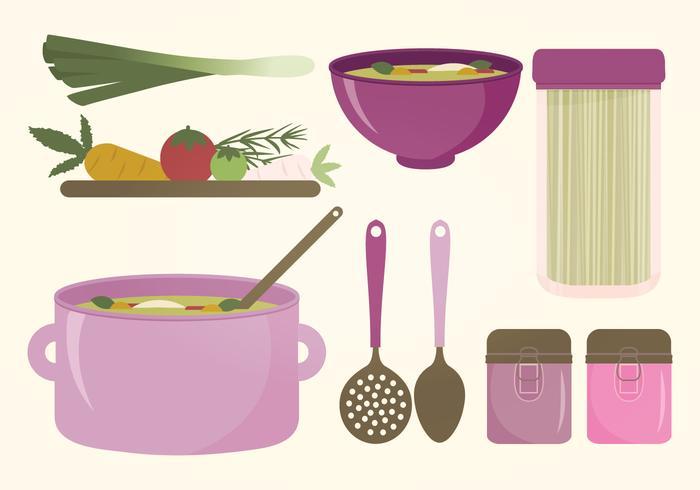 Kitchen Elements Vector Set