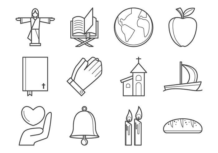 Libres Cristianos Religión Icono Vector