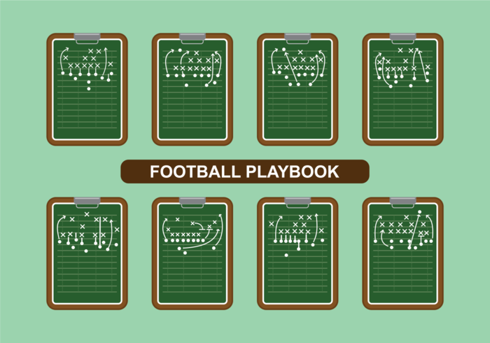 Vettore di Playbook di calcio