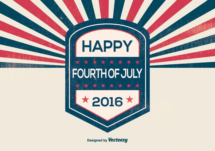 Retro Style Independence Day Illustration vector