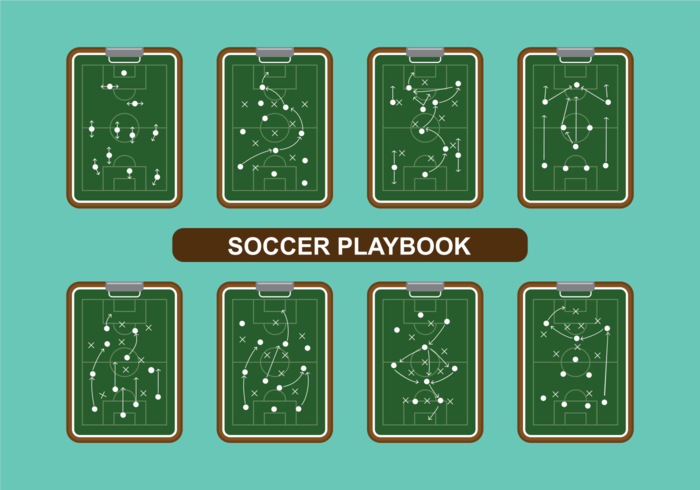 Soccer Playbook Vector